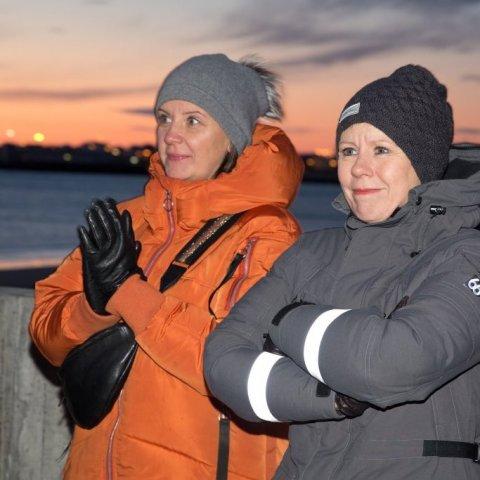 Guðrún Dóra Brynjólfsdóttir sérfræðingur og Bjarnheiður Hallsdóttir frá Katla Travel